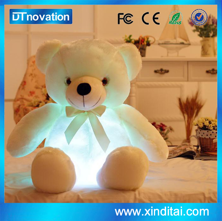 Cute Stuffed Teddy Bear With Led Night Light 75CM