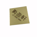 High quality metal customized logo label