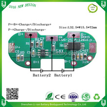 Smart battery pack li-ion 7.4v charge controller pcb 2s lipo bms