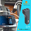 5V 4.8A 2 USB Car Cigarette Charger Smart IC Automatically Detection Charger
