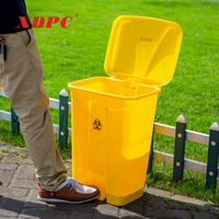 XDPC Best price hospital plastic foot pedal biohazard medical garbage waste bin dustbin trash cans