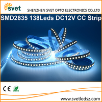 Top Grade / High Quality / High Power Constant Current Led Strip 2835 SMD 138Leds DC12V 6000K CCT Cold White