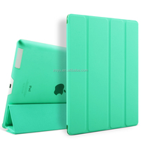 New Product flip leather case for case ipad 4 With Automatic Sleep & Wake-Up Function