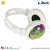3.5mm stereo fancy color mp3 wired headphones without mic