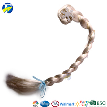 FJ brand kids hair accessories frozen Elsa hair wigs clip in hair extension