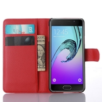 Newest classical leather case for samsung a3 flip cover