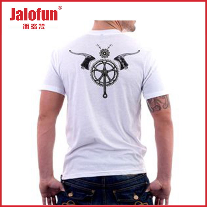 Promotion 65% cotton 35% polyester paid samples back print t shirt