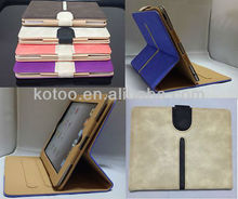PU leather case holder for apple ipad 2/3/4