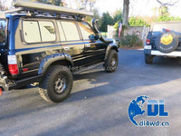 bushwacker fender flares for Toyota FJ80 pocket style fender flares land cruiser
