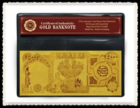 Business Gift Iraq 25000 24k Gold Foil Banknote with PVC Holder and COA Customized Free