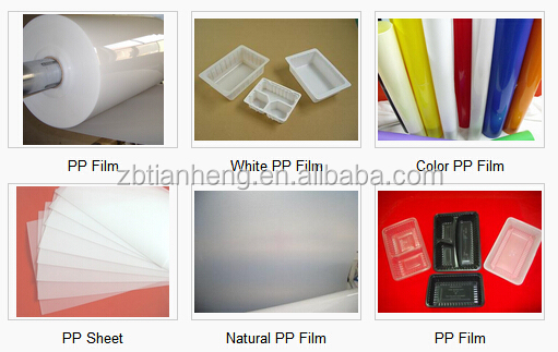 Natural color PP rigid film roll ,PP rigid film for theremoforming