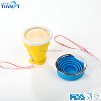 FDA/LFGB Silicone Outdoor Drinkware Foldable Silicone Cup Collapsible Silicone Water Cup