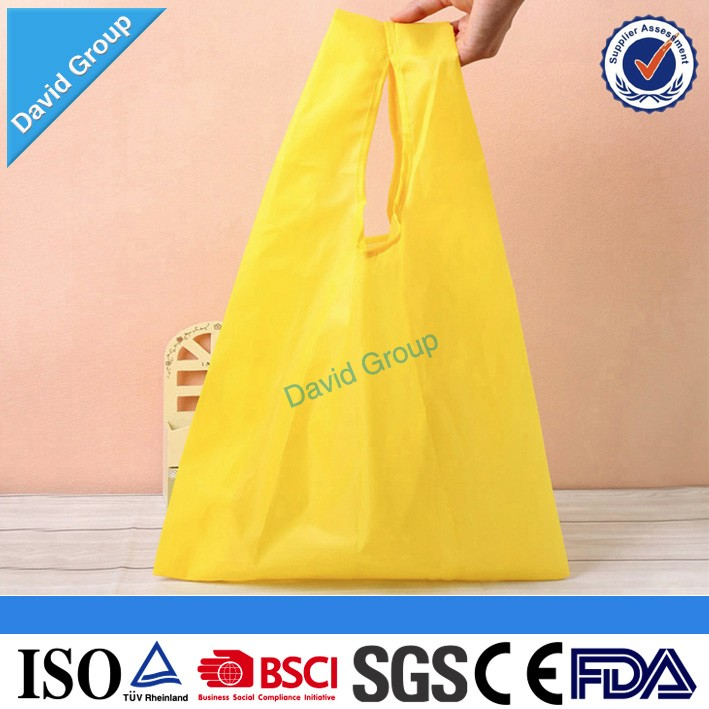 Alibaba Top Supplier Promotional Wholesale Custom Purple Rose Nylon Foldable Shopping Bag