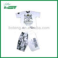 printed & embroidery t shirt & pants set