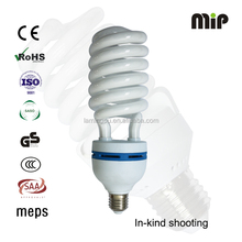 high quality Half spiral T5 65W E27 6400K Energy saving lamp