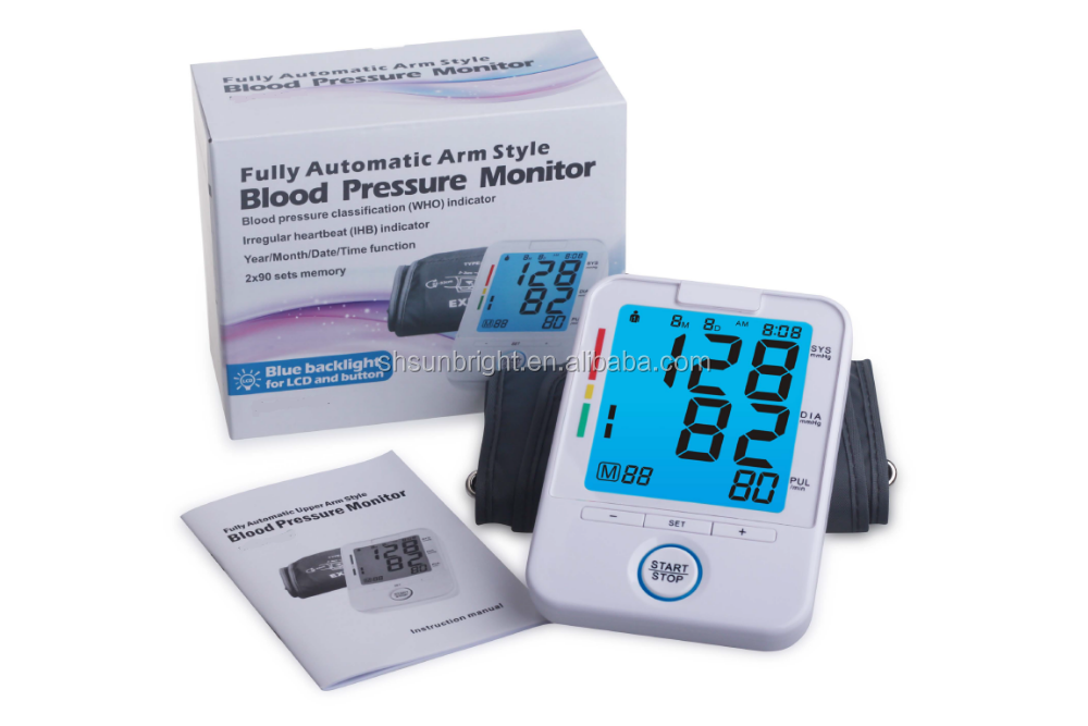 SUN-200K Highest Quality and Cheapest back light Mini Blood Pressure Monitor