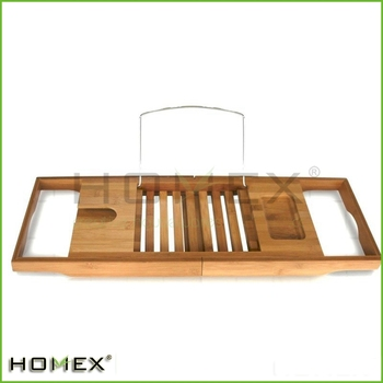 Popular Bamboo Bathtub Caddy With Extending Sides/Homex_BSCI