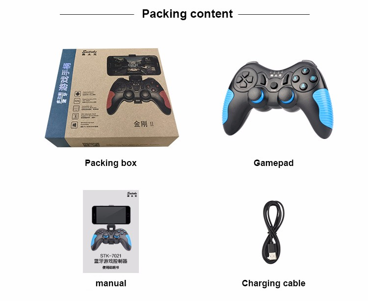 Ulewell hot sale STK-7021X joystick pc 2.4g wireless gamepad supported by android devices