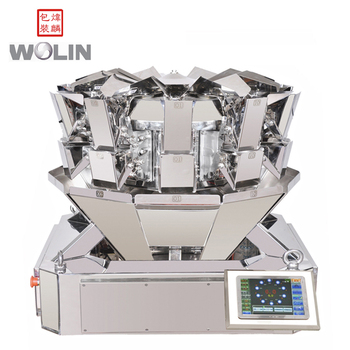 Multihead weigher packaging machine filling fresh noodle frozen foods granules nuts