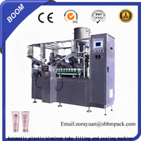 CE certificate aluminum/plastic tube filling and sealing machine