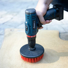 5 inch factory Round Electric Drill <strong>Brush</strong> Attachment Scrubbing Cleaning Kit