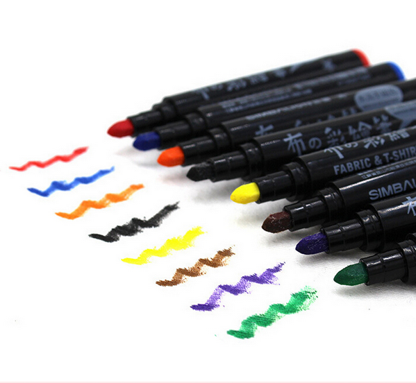 6/8 Colors Fabric Textile Marker Watercolor Sketch Pen Set For Artist T-Shirt Painting Liner School Stationery Supplies