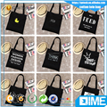 DIY shopping bag well printed organic cotton canvas bags