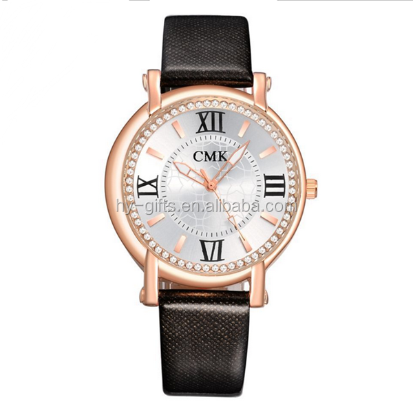 top selling brand leather strap lady watch fashion jewelry lady watch