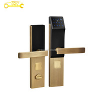 Promotion intelligent smart keypad remote lock with RF card and mechanical key for door security