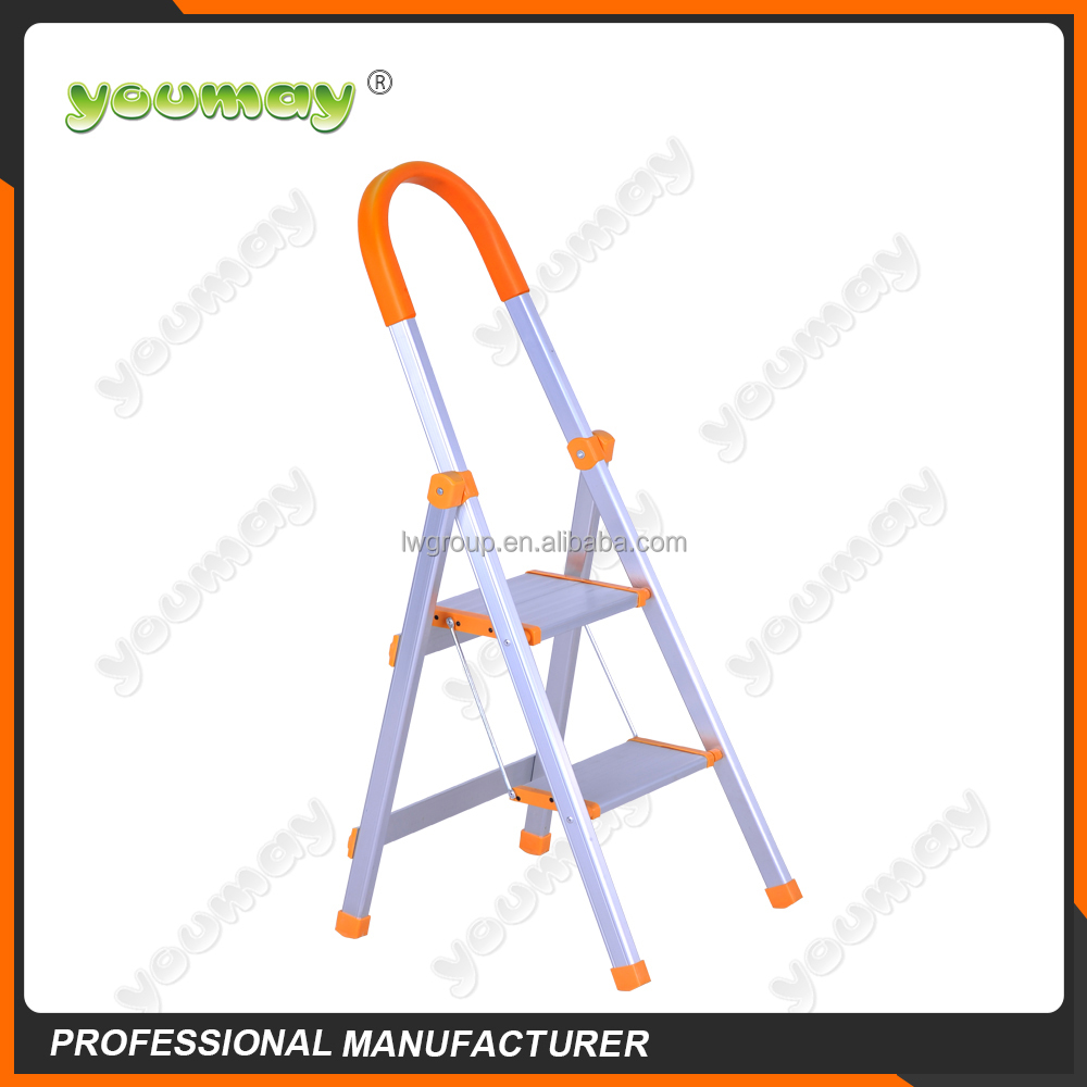EN131 strong built tree stands Aluminum Folding Ladder AF0202A /folding chair parts/used folding chairs wholesale/china supplier