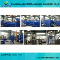 Waste plastic film recycling machine plastic washing equipment