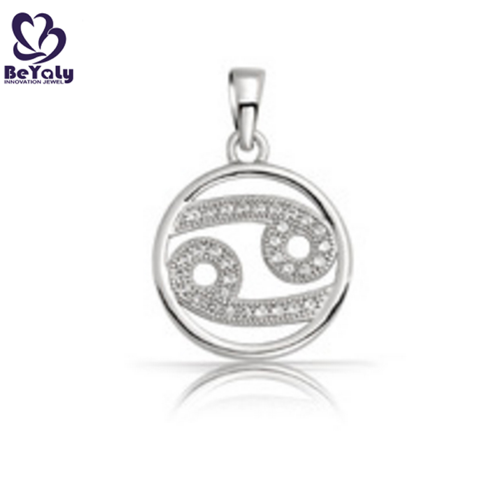 Wholesale 925 sterling silver jewelry zodiac sign cancer pendant