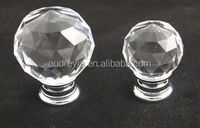 Faceted crystal ball door knobs, colorful available