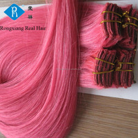 Cheap 100% human hair extension pink color youtube sex clip in hair