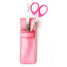 Piccasso Pink Pouch, Tweezers and Scrissors Set