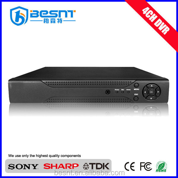 BESNT hot selling 4CH AHD 720P cctv DVR p2p mobile monitoring H.264 ahd DVR support hdmi BS-AHD04L