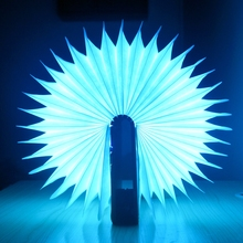 Foldable reachargeable led book reading lamp colorful blue tooth book light