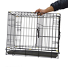 Cheap waterproof black modular heavy duty metal iron welded wire chain link heated indoor pet dog kennel