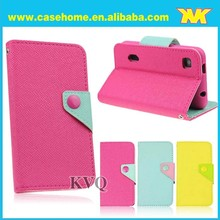 china supplier Two color leather case for lg g3,pu leather phone case for lg g3