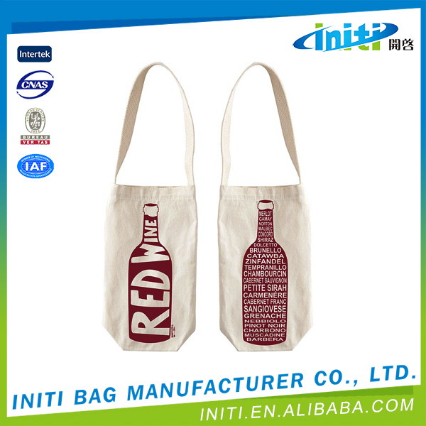 China fashion eco-friendly shopping cotton wine bag