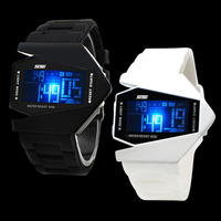 colorful light up led waterproof watch,2016 unisex led aircraft watch sports watch