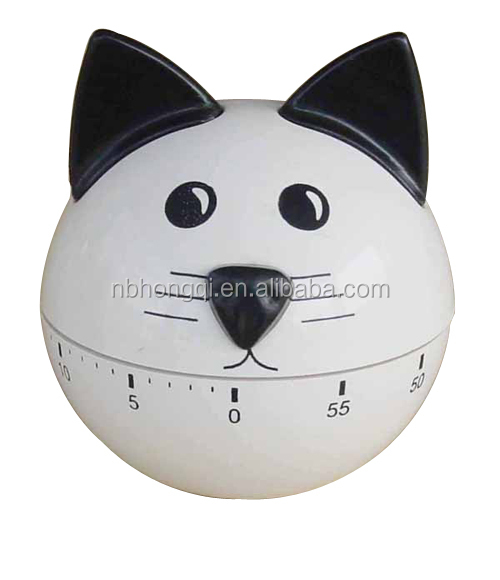 60 minutes Plastic Mechanism Cute Micky Mouse Countdown Kitchen Timer