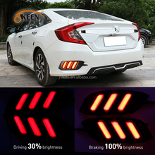Car Accessories For Honda Civic Tail Light 12V Waterproof LED Rear Bumper Reflector Lamp For Honda Civic 2017