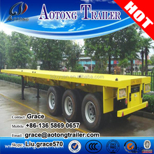 Manufacturer 40ft / 20 ft flatbed trailer, fifth wheel flatbed trailers for sale