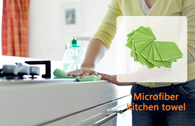 customized size absorbent microfiber kitchen cleaning cloth