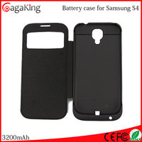 For samsung galaxy s4 Mobile battery ABS+PC 3200MAH for Samsung galaxy I9500 S4 Charger case Wireless phone charger