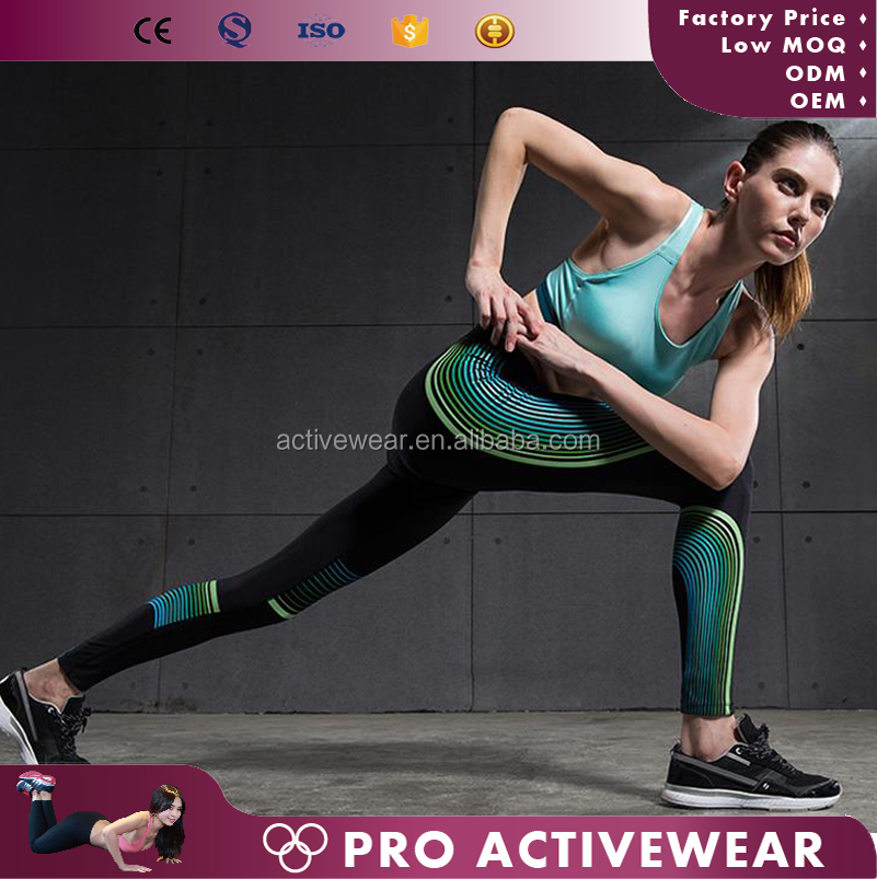 Latest Design High Impact Customized Gym Fitness Leggings, Wholesale Authentic Sportswear Women
