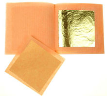 HOT!!5 Sheet 50x50mm Booklet*Edible 24ct Gold Leaf