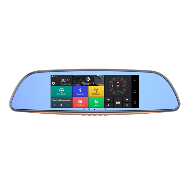 Android 5.0 car camera Twin Lens Rearview Mirror Car DVR Full HD 1080p Driving recorder