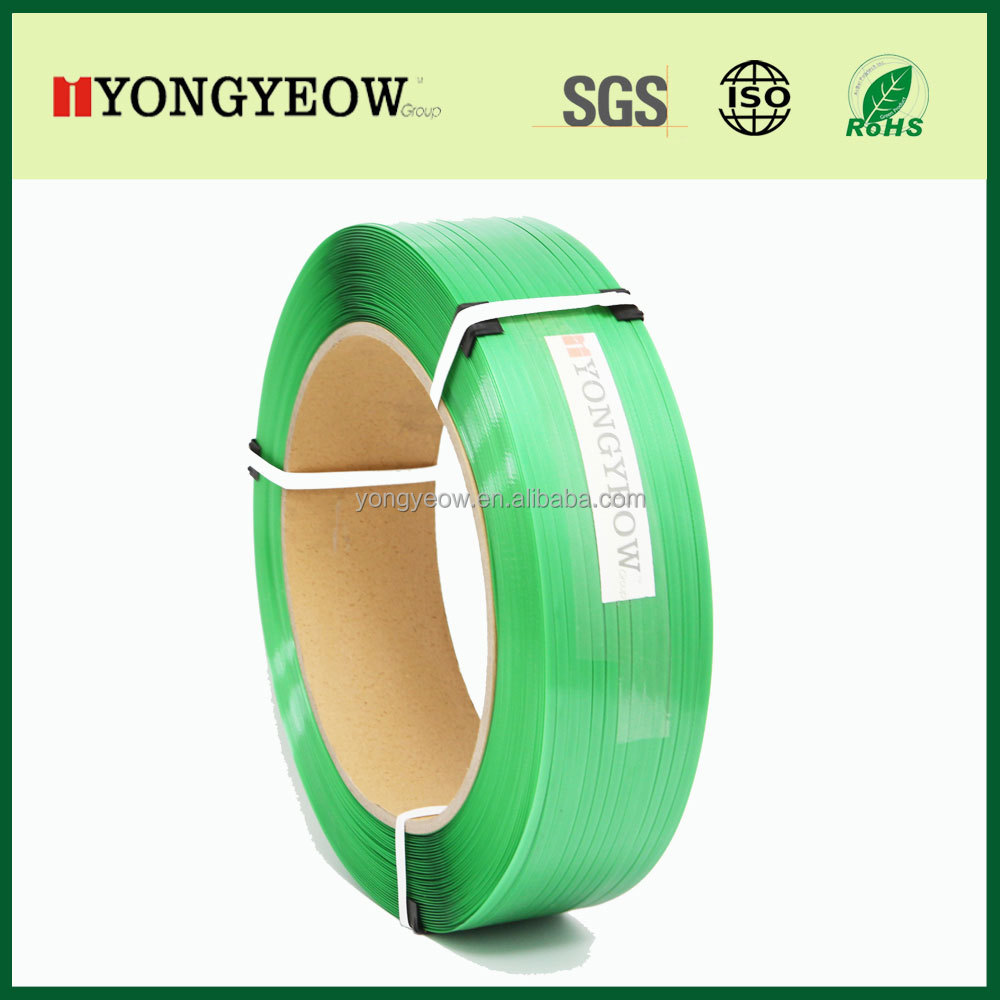 smooth embossed green PET strap polyester strapping band